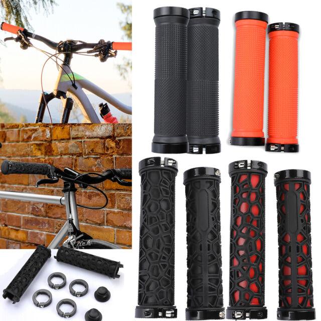 1 Pair Double Lock On Locking Mountain Bike Bicycle Cycling Handle Bar Grips USA