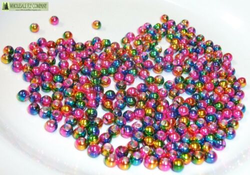 1000 Rainbow Tungsten Fly Tying Beads Assorted Sizes A