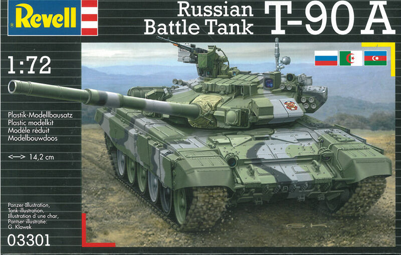 Revell 03301 T-90A Russian Battle Tank