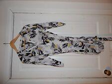 ✨Bnwt K&D London Floral Shirt Tunic Dress Size Uk 16 White Black & Yellow