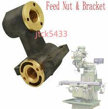 Milling Machine Part J Head X Axis Y Axis Feed Nut Amp Bracket For Bridgeport 1set