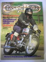 Classic Bike Magazine. No. 53. June, 1984. Harley flathead and panhead classics.