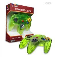 Clear Neon Extreme Green Cirka Controller Gamepad Pad For N64 Nintendo 64