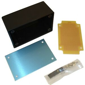 abs aluminium project box case enclosure \u0026 circuit matrix board pcbimage is loading abs aluminium project box case enclosure amp circuit