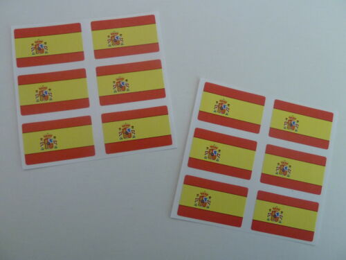 FR19 Self-Adhesive Spain Flag Labels Mini Sticker Pack