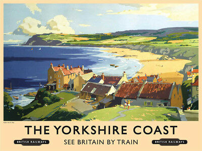 old Rail Ad Medium Size Metal Sign 300mm X 200mm og Diligent Yorkshire Coast