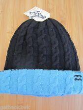 NEW BILLABONG REVERSIBLE BEANIE Cap HAT MENS S M L OSFA Wool Black Blue