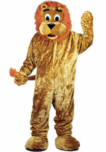 Géant Lion Mascotte Costume Deluxe Jungle Safari Animal Adultes Fancy Dress-afficher Le Titre D'origine
