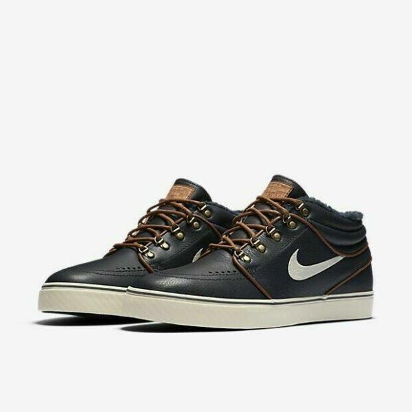 Size 10 - Nike Zoom Stefan Janoski Mid Premium Blue - 472679-423 ...