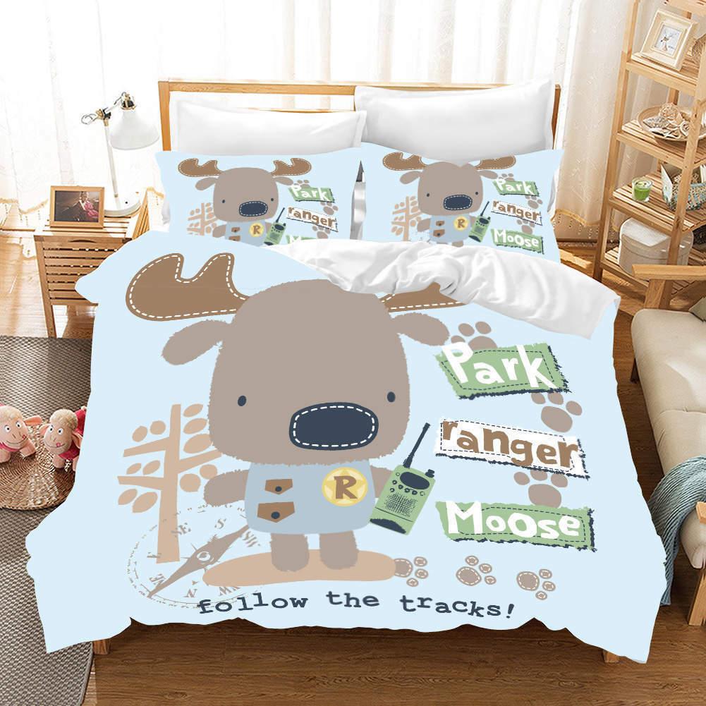 Key Mobile Deer 3D Druckening Duvet Quilt Will Startseites Pillow Case Bettding Sets