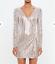 Missguided-peace-love-silver-embellished-stripe-wrap-mini-130-UK-6-12-A-88 thumbnail 1