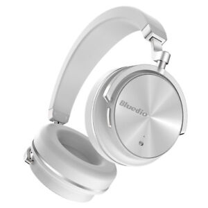 Bluedio T4 Bluetooth 4.2 ANC Headphones Wireless Stereo Mic Headsets White