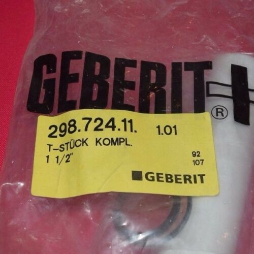 """649 Geberit Té compl 298.724.11 1 1//2/"""" siphon ruissellement évier"""