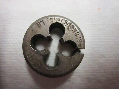 """9//16-12 UNC Thread Hexagon Die 1/"""" Outer Width Right Hand Thread High Speed Steel"""