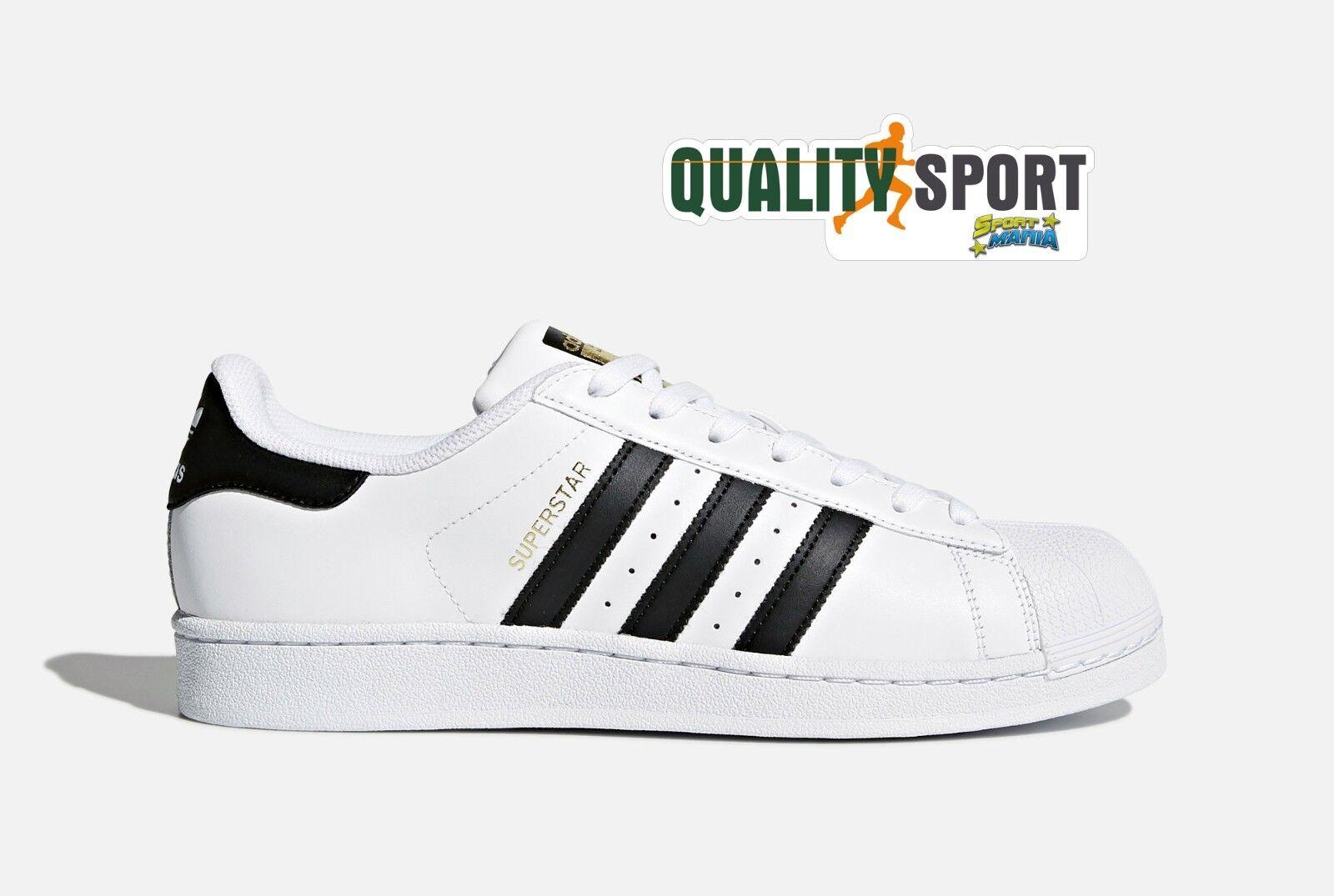 Adidas Superstar Bianco Nero  Zapato  hombre Nuevo Deporteive Deporteive Nuevo  Zapatillas  C77124 2018 67b752