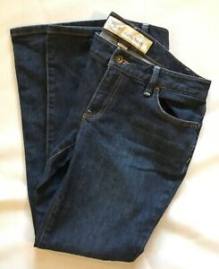 Ann-Taylor-Loft-Women-s-Dark-Wash-Curvy-Boot-Stretch-Jeans-Size-6P-Awesome-Used