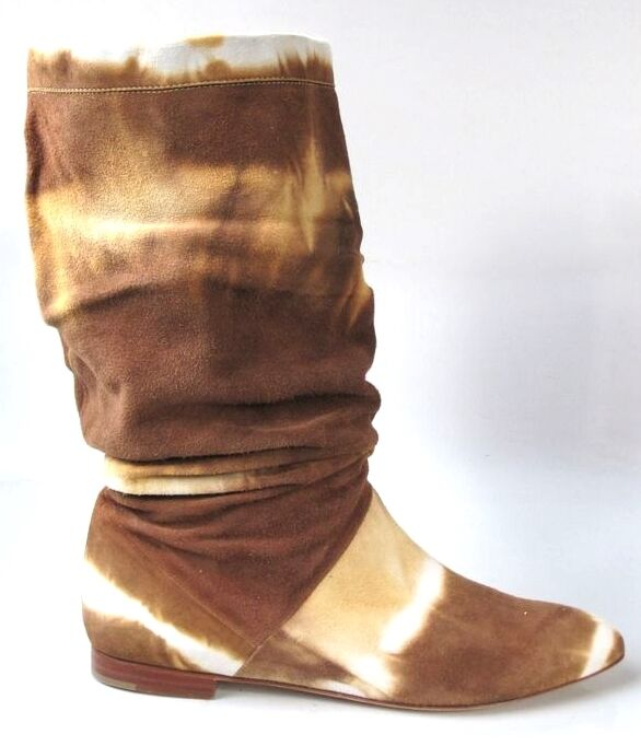 new 715 BRIAN ATWOOD Ontario tan/brown suede flat BOOTS 41 US 11 - unique