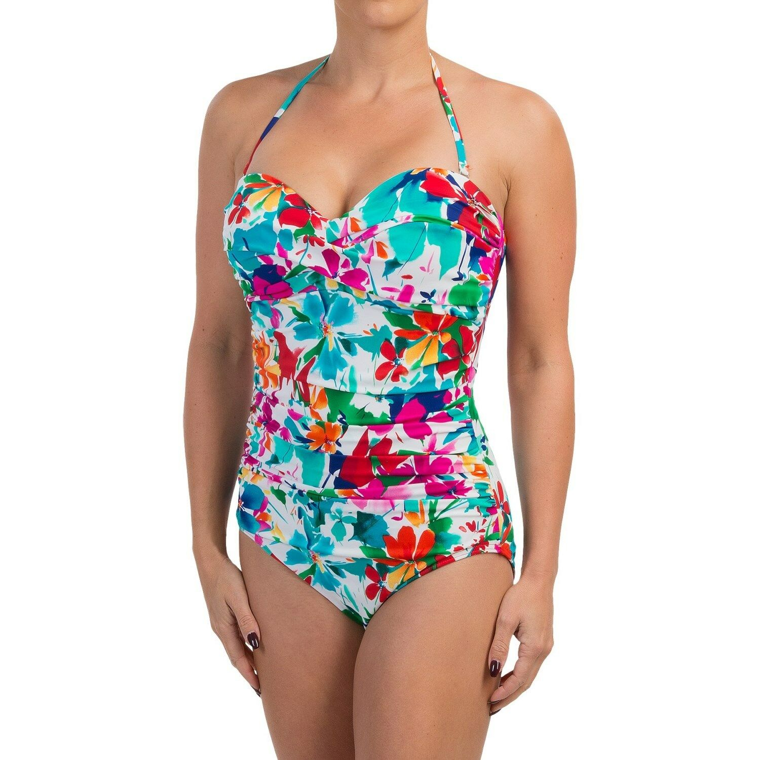 NWT MSRP  156 - MIRACLESUIT Barcelona Floral One-Piece, Brights,  Size 18