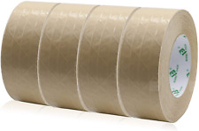 New Listing4rolls Self Adhesive Reinforced Kraft Packing Paper Tape 2inch 55yds Total 220