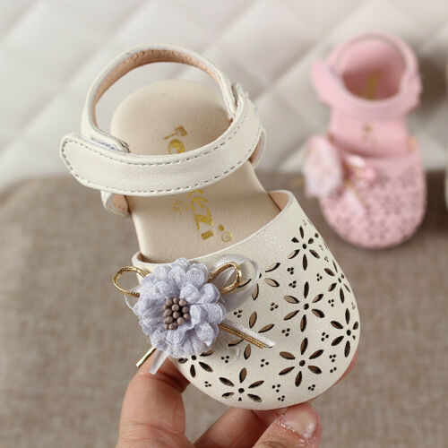 New Summer Infant Flower Princess Shoes Baby Sandals for 0-3 Years Old Girls