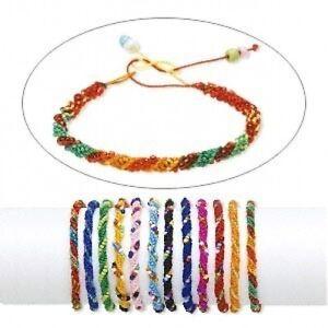 Image Is Loading Whole 12 Thread Amp Seed Beads Friendship Bracelets