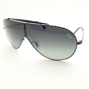 84bab63f85593a Ray Ban 3597 002 11 Black Grey Fade Wings Shield Sunglasses ...