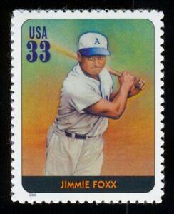 #3408n 33c Legendas De Béisbol: Jimmie Foxx, Nuevo Cualquier 5=