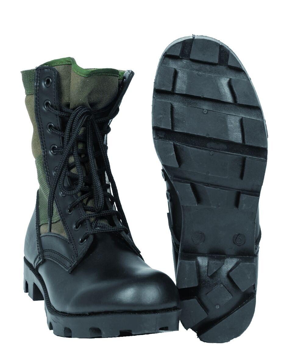 Mil-Tec - US Stivali giungla Panama stile militare Jungle Oliva 12826001 | Clienti In Primo Luogo  | Gentiluomo/Signora Scarpa