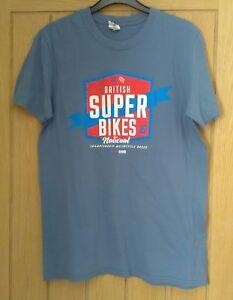 Mens-British-Super-Bikes-National-Championship-Motorcycle-Races-T-shirt-Size-M