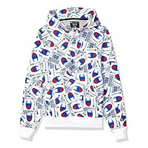 Champion LIFE Super Fleece 2.0 Pullover All Over Print White Men/'s Hoodie