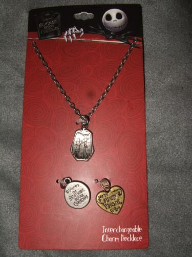 Disney The Nightmare Before Christmas Jack Interchangeable Multi Charm Necklace
