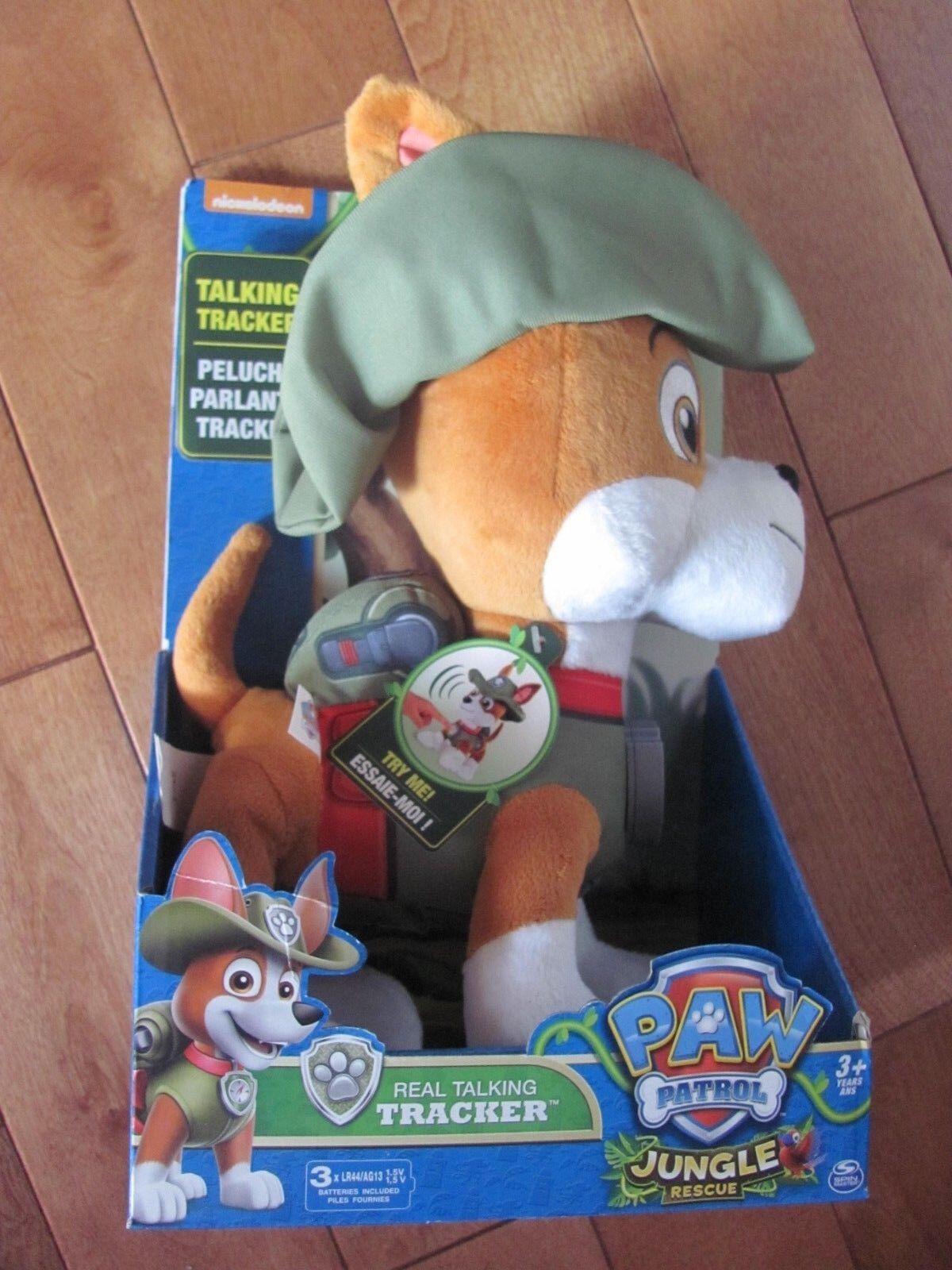 Paw Patrol Jungle Rescue Tracker Peluche Parlante 12  Parlare Inglese &