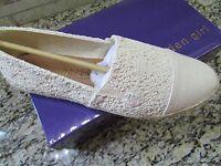 Madden Girl Portia Espadrille Shoes Womens 10 Cream Natural Free Ship