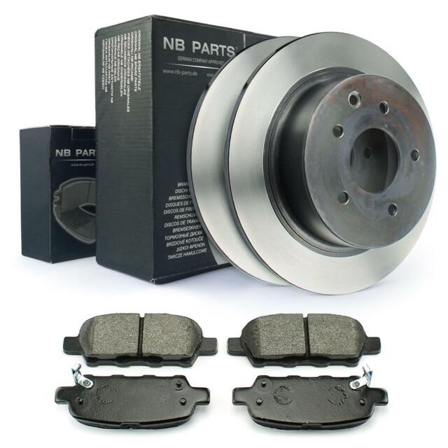 Bremsbeläge Hinten Bremsen-Set Brembo2 Bremsscheiben Voll 262 mm