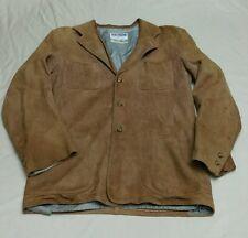 VTG 40s 50s Californian Suede Deerskin Leather Bomber Jacket Sportscoat Mens SM