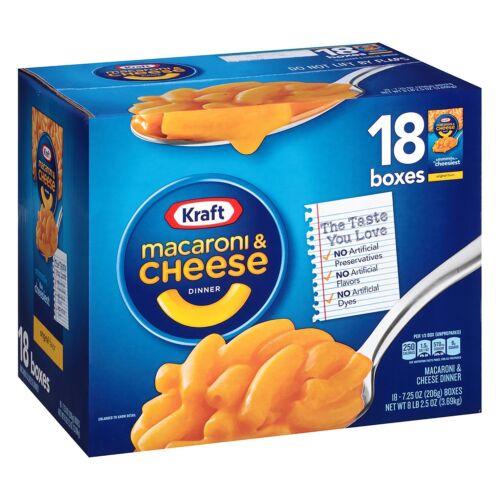 Kraft Macaroni and Cheese 18 ct. box