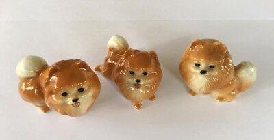 Handicraft Miniatures Collectible Ceramic Pomeranian Pom Dog Breed FIGURINE