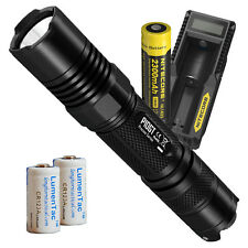 Nitecore P10GT 900 Lumen LED Flashlight w/ UM10 Charger & Rechargeable Battery