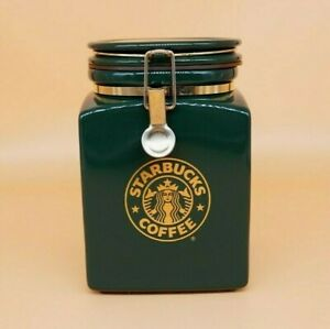 Vintage Starbucks Forest Green and Gold Coffee Bean ...