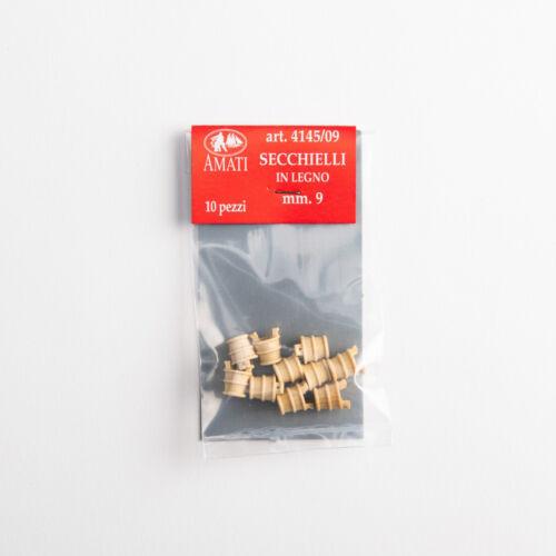 10 Stücke Modell Amati AM4145-09 ° Blecheimer IN Holz 9 MM