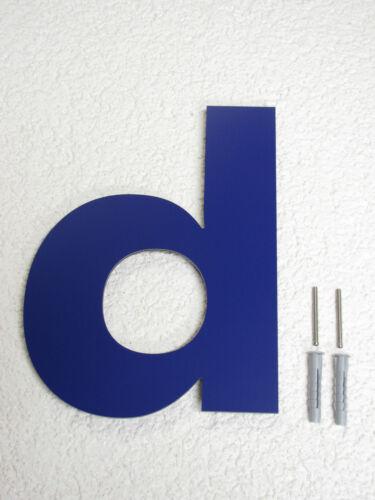 Hausnummer Blau RAL 5002 Zahl 25 cm hoch 1-9 Buchstabe a b c d e f g h //