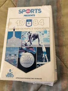LOS-ANGELES-1984-SUMMER-OLYMPICS-HIGHLIGHTS-VHS-CLAM-SHELL-VIDEO