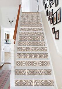 3D-Circular-pattern-Stair-Risers-Decoration-Photo-Mural-Vinyl-Decal-Wallpaper-AU