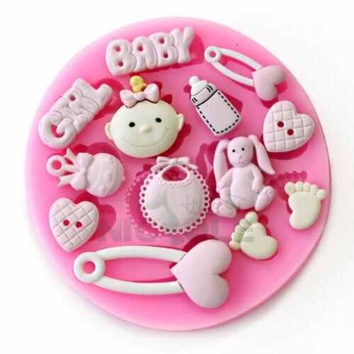 Nicole F0486 Cute Baby FDA Resin,Clay Crafts Molds Fondant Cake Decoration Tools