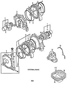 Details about OEM NEW 1984-1985 Genuine Mazda RX-7 Rotary Engine Side on