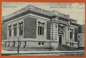 c-1910-CARNEGIE-LIBRARY-Greenpoint-Brooklyn-New-York-USA-postcard