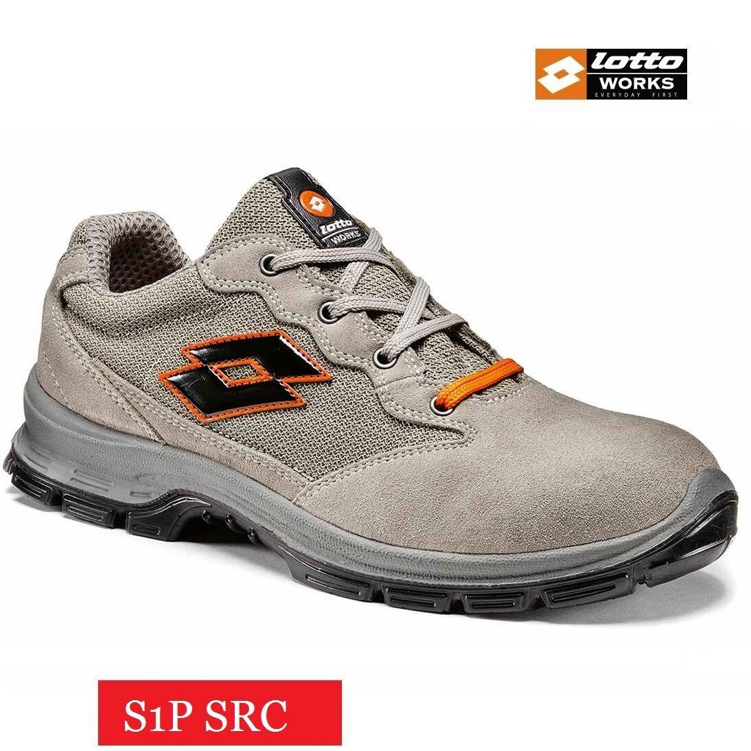 SCARPE ANTINFORTUNISTICHE LOTTO WORKS SPRINT 501 S1P SRC Q8357 PUNTALE ACCIAIO-