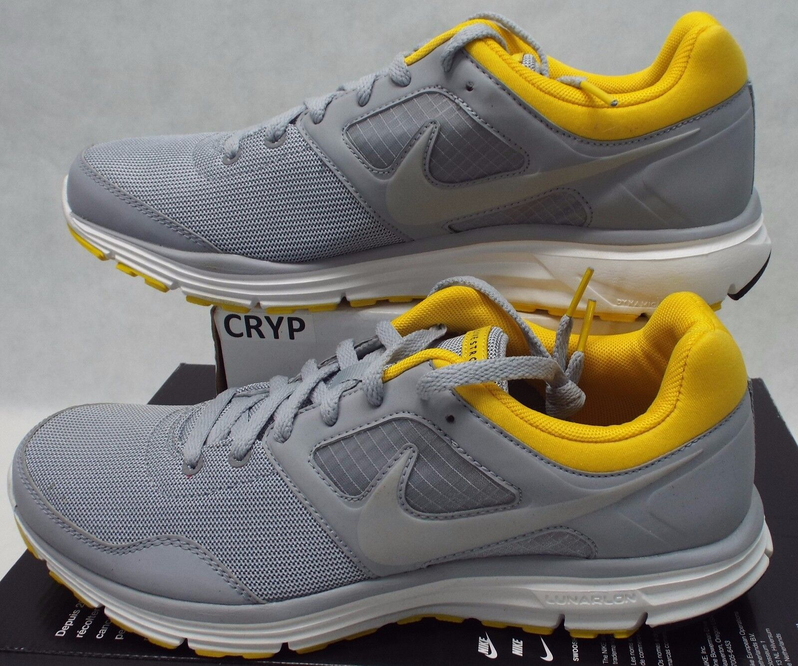 New New New Womens 10.5 NIKE LunarFly 4 LAF Grey Yellow shoes  90 554692-007 6948e3