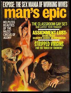 Man-039-s-Epic-Pulp-Magazine-Vol-9-5-Oct-1971-Bondage-Very-Fine-7-5