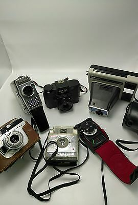 VINTAGE CAMERA LOT: Yashica , Kodak Brownie, Argus A-Four, Vivitar + HOLGA 120s
